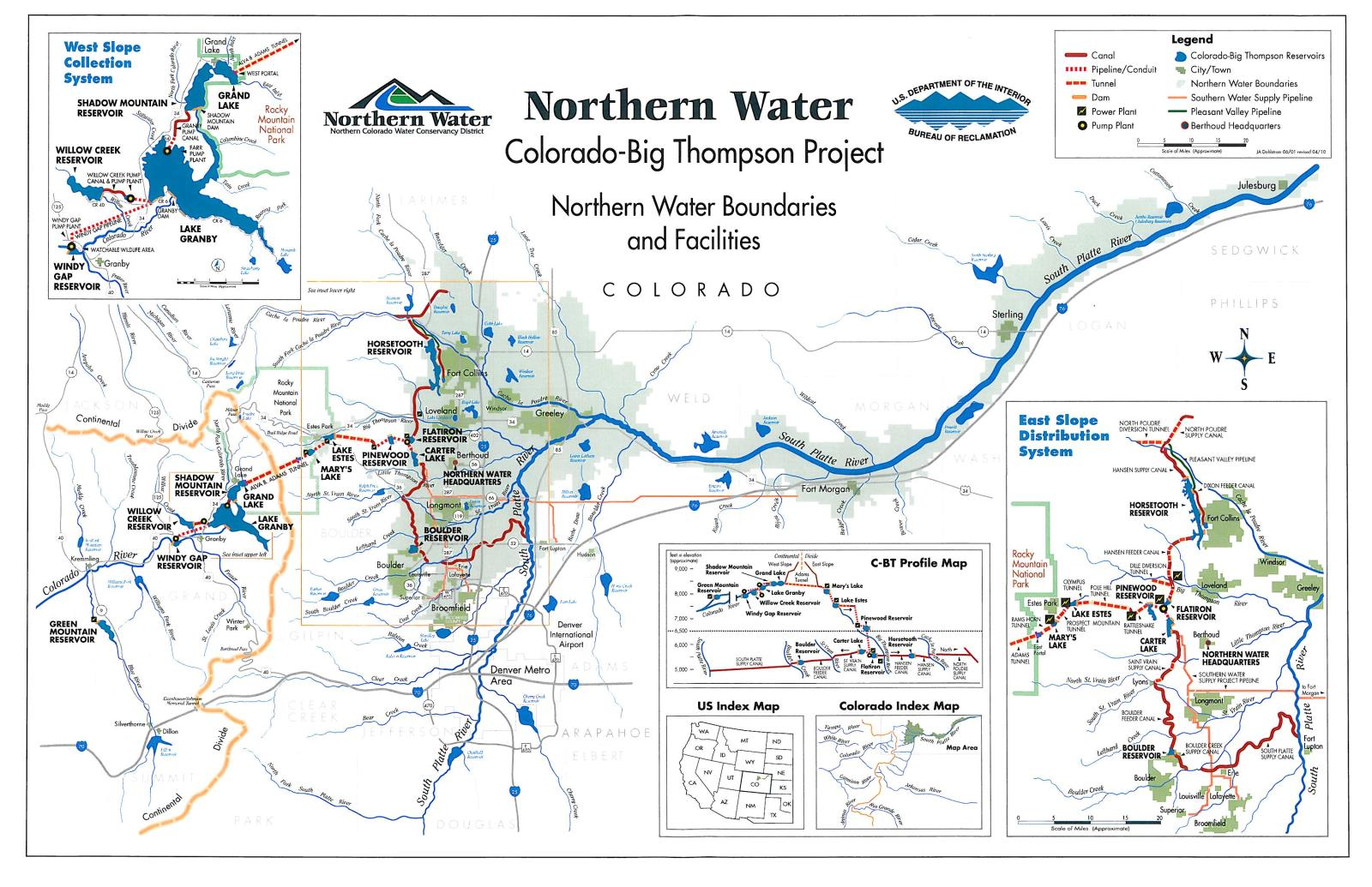 Map of Town of Superior Water Supply Source