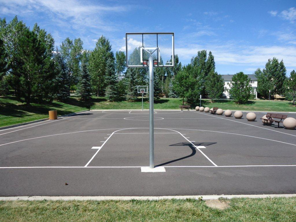 Basketball Court End View